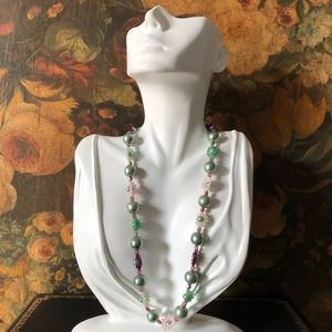 🔥 Mint Faux Pearl Beaded Necklace